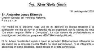 """Niega Nahle """"mano negra"""" en licitación para la obra de Dos Bocas"""
