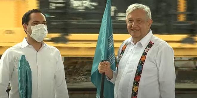Da AMLO banderazo para construir Tramo 3 del Tren Maya