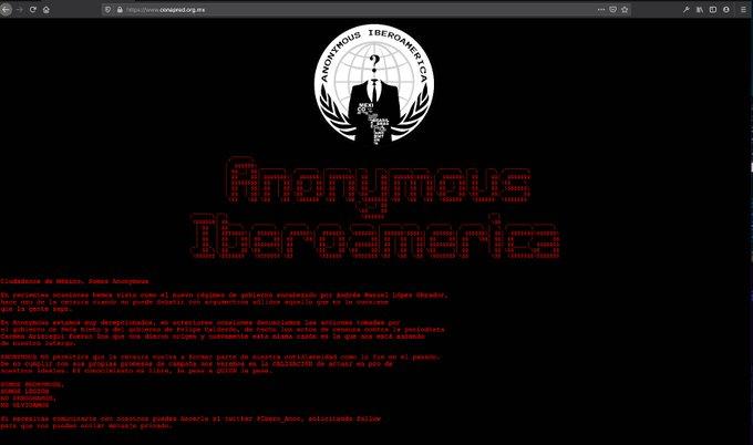 Anonymous hackea página de Conapred y acusa al Gobierno de censura