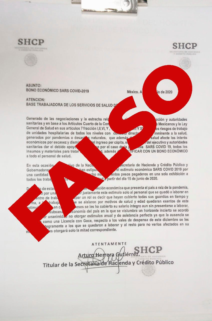 Advierte Hacienda sobre 'bono COVID' falso en Durango