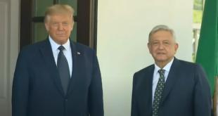 AMLO llega a la Casa Blanca para su reunión con Trump