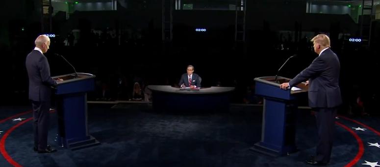 Ni mención de México en primer debate presidencial entre Trump y Biden, Estados Unidos, presidente, elecciones