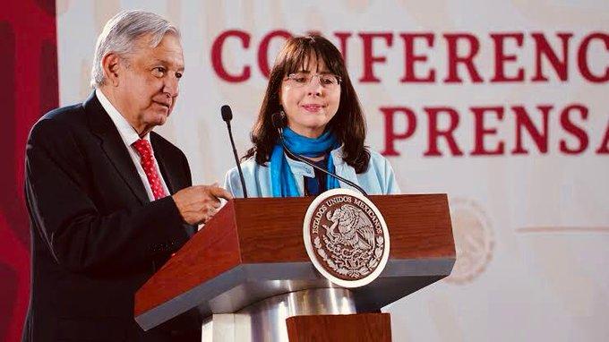 María Elena Álvarez Buylla con el presidente López Obrador / Foto: Tomada de @ElenaBuylla