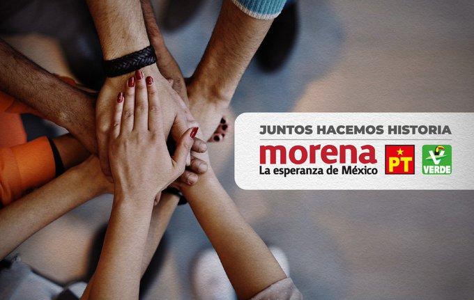 Morena se alía con los partidos PT y Verde Ecologista rumbo a junio 2021