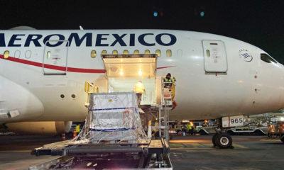 Aeroméxico trajo la vacuna de AstraZeneca en un vuelo comercial