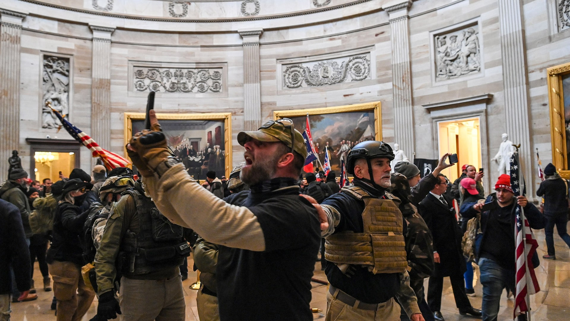 foto @infobae violencia en Washington
