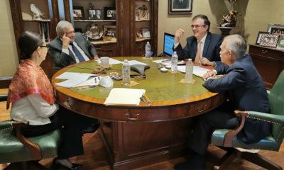 Con Romo y Ebrard presentes, AMLO tiene su primera charla con Biden