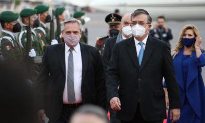 Llegó a México el presidente de Argentina, Alberto Fernández