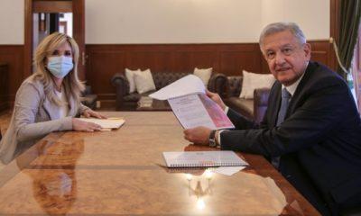AMLO y Claudia Pavlovich revisan agenda de trabajo de Conago