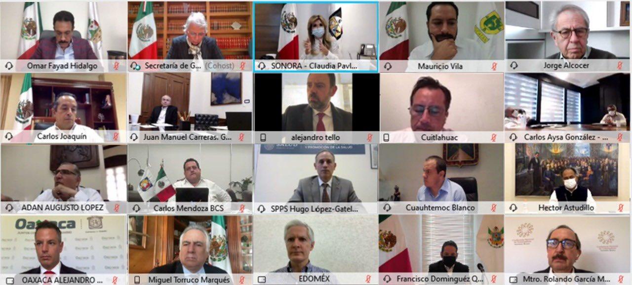 Gobernador de SLP se reúne con miembros de Conago y gabinete federal