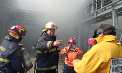 Incendio en planta de zinc de Industrial Minera México / @GobEdoSLP