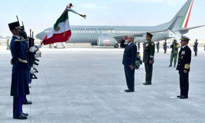 Inauguración de pista del Aeropuerto Felipe Ángeles en Santa Lucía, Edomex.