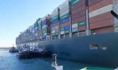 Liberan el Canal de Suez; buque de 220 mil toneladas fue desencallado