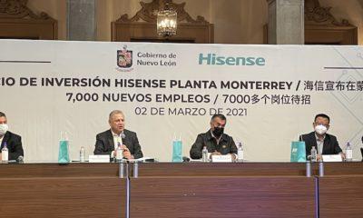 Anuncio de Hisense en NL / Gobierno de Nuevo León