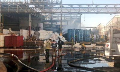 Incendio en planta de Kimberly Clark en San Juan del Río