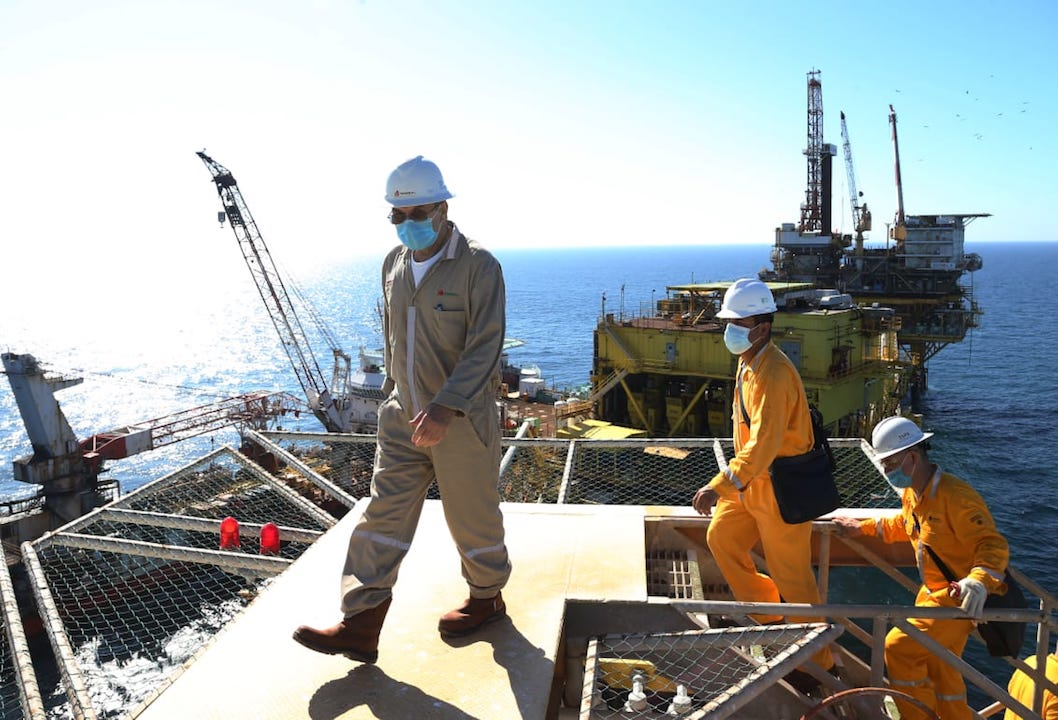 Hacienda, Xanab, Producción petrolera / Pemex
