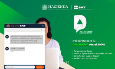 Sitio oficial del SAT declaración 2020