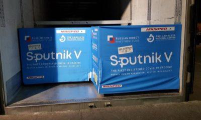 Cargamento de vacunas Sputnik V contra Covid-19 / @sputnikvaccine