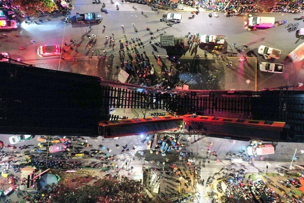 Decretan tres días de luto nacional por accidente en Línea 12