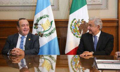 Andrés Manuel López Obrador y Alejandro Giammattei