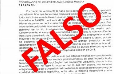 Carta falsa de Edelmiro Santos Díaz