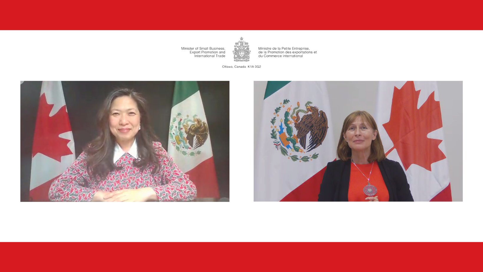 Mary Ng y Tatiana Clouthier