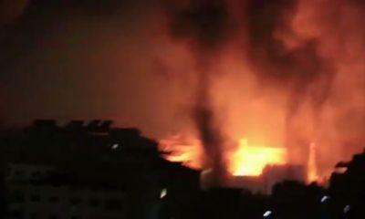 Bombardeo a Gaza / imagen de Youtube