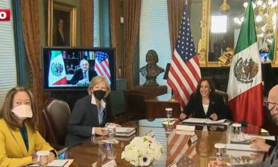 Reunión de AMLO con Kamala Harris