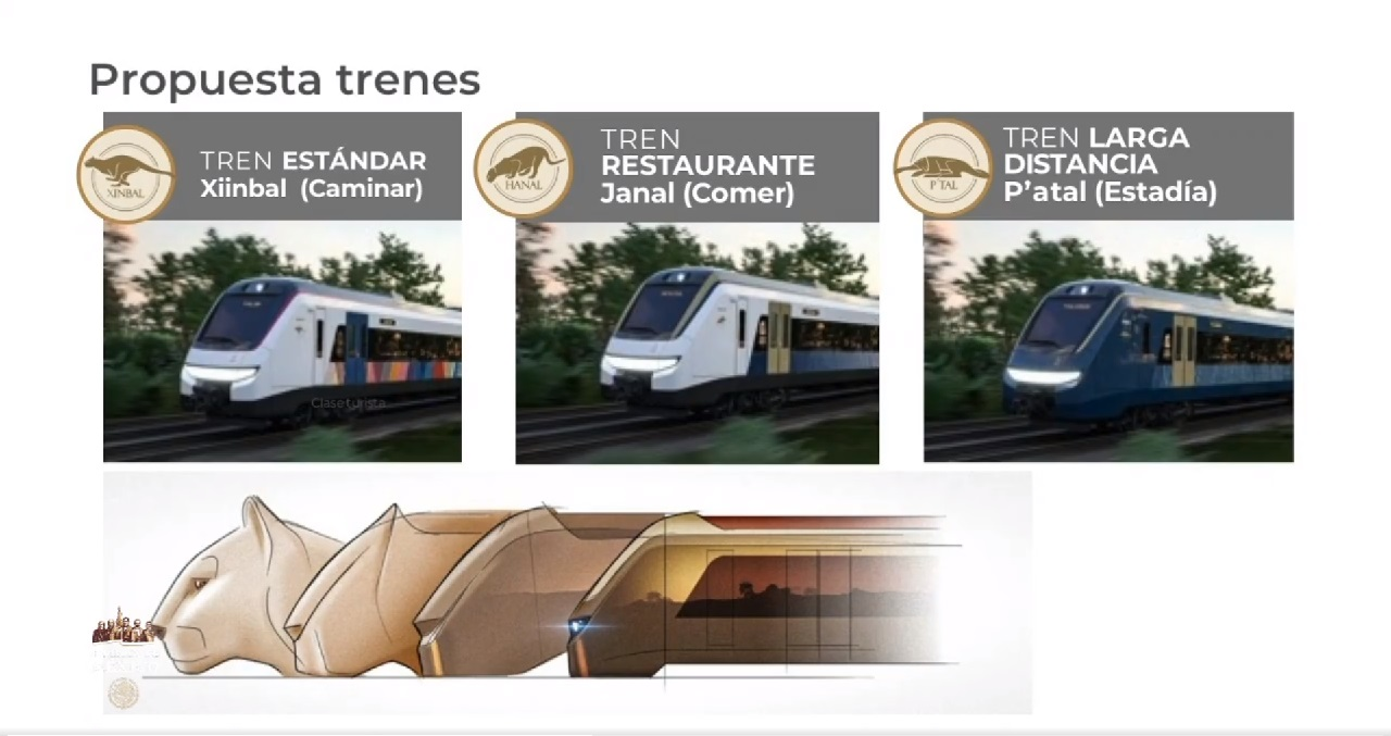 Trenes del Tren Maya