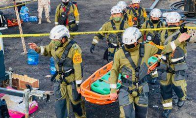 Rescate de mineros en Cohuila / @CNPC_MX