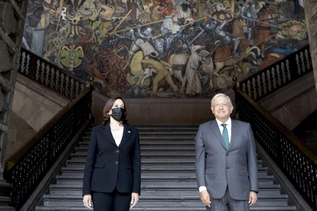 Kamala Harris y Andrés Manuel López Obrador / @SRE_mx