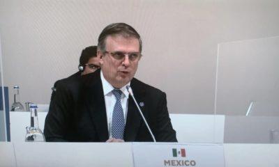 Marcelo Ebrard en la reunión del G20 / @SRE_mx
