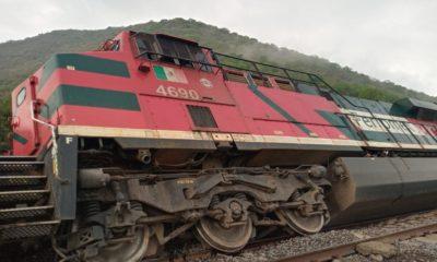 Tren descarrilado de Grupo México / SCT