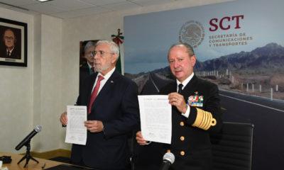 Jorge Arganiz y José Rafael Ojeda / traspaso de puertos y marina mercante