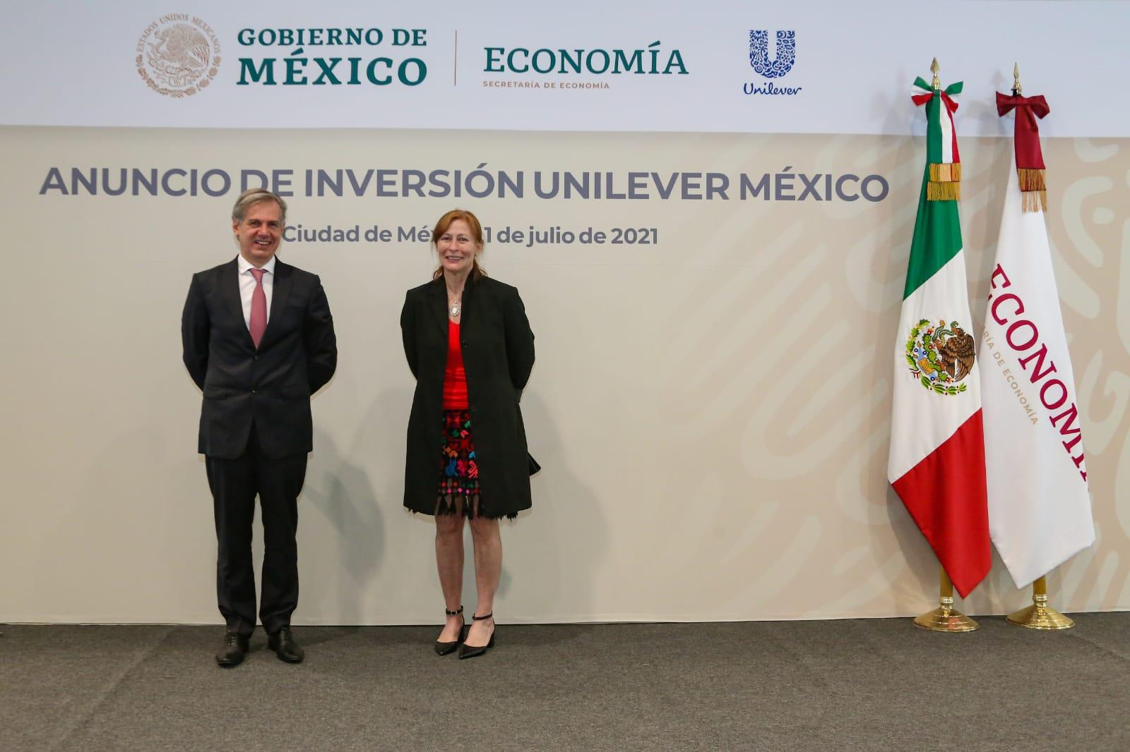Anuncio de inversión de Unilever en México /@SE_mx