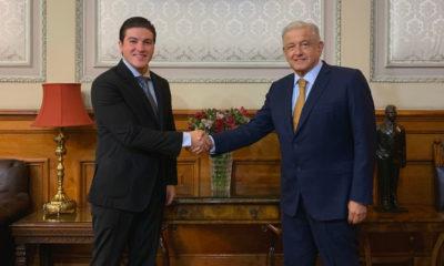 AMLO se reunió con Samuel García; no se tocó Pacto Fiscal