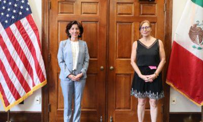 Tatiana Clouthier y Gina Raimondo / @SecRaimondo