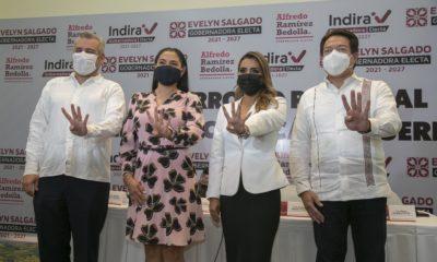 Gobernadores electos de Michoacán, Colima y Guerrero / @ARBedolla