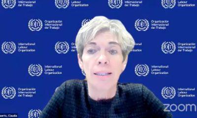Claudia Coenjaerts, funcionaria de la OIT