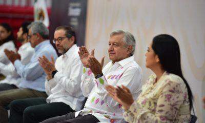 Andrés Manuel López Obrador de gira en Colima