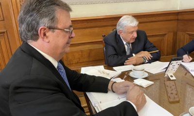 Conversación de Andrés Manuel López Obrador con Kamala Harris / @m_ebrard