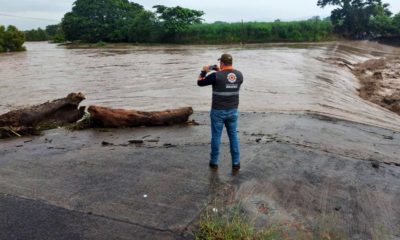 Huracán Grace causó inundaciones en Veracruz / @CuitlahuacGJ