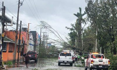Afectaciones al suministro eléctrico por el paso del huracán Grace / CFE