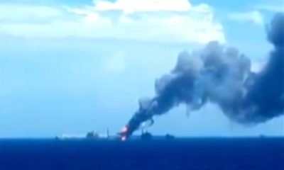 Incendio en plataforma E-Ku-A2 de Pemex en la Sonda de Campeche