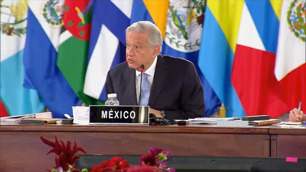 Andrés Manuel López Obrador en la apertura de la VI Cumbre de Celac