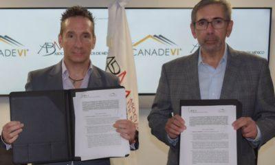 Daniel Becker Feldman, de ABM, y Gonzalo Méndez Dávalos, de Canadevi