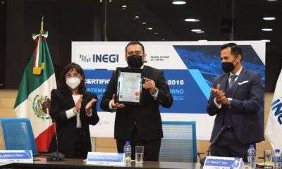 INEGI recibió el certificado ISO 37001:2016