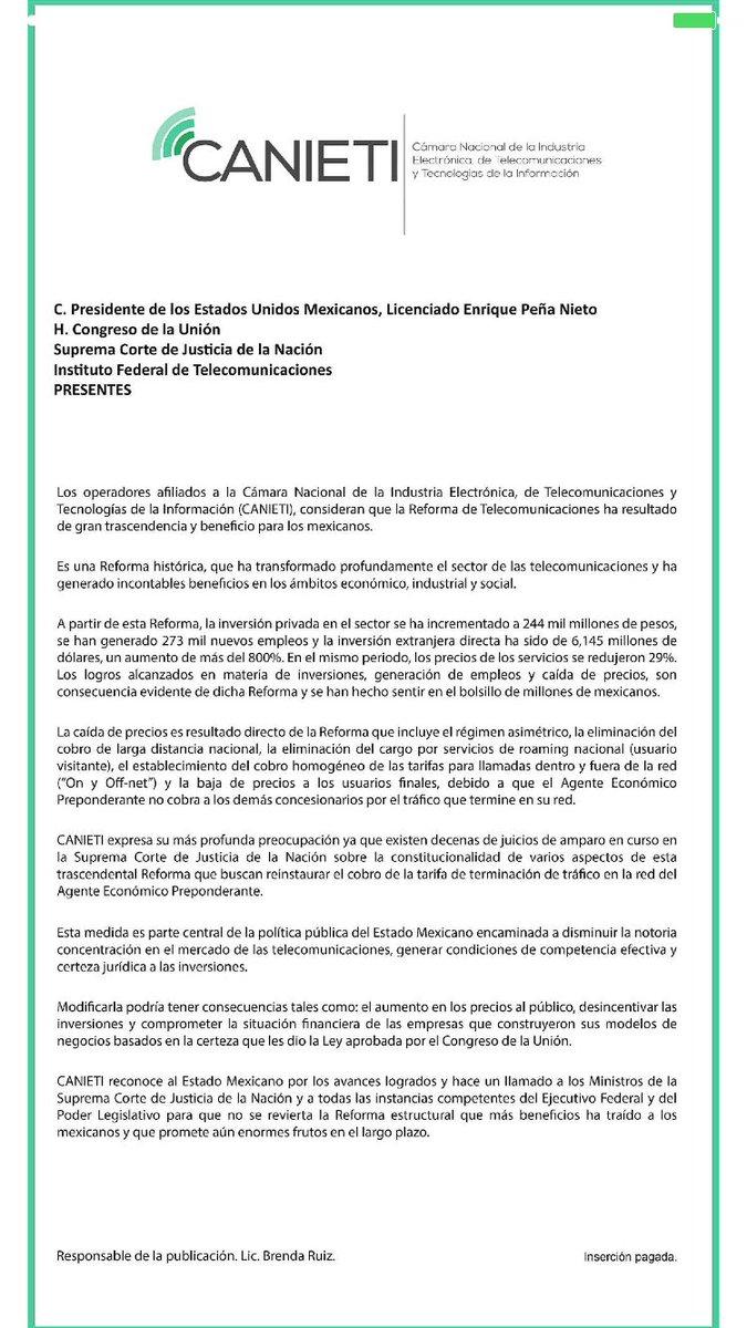 Falla corte a favor de am rica m vil en tarifas de interconexi n